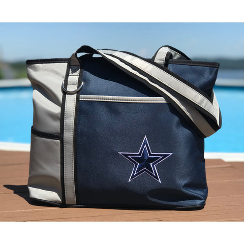 Dallas Cowboys Tote Bag with Embroidered Logo - Charm14