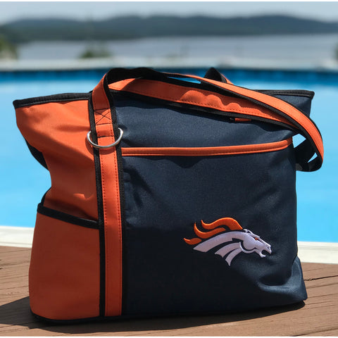 Denver Broncos Tote Bag with Embroidered Logo - Charm14