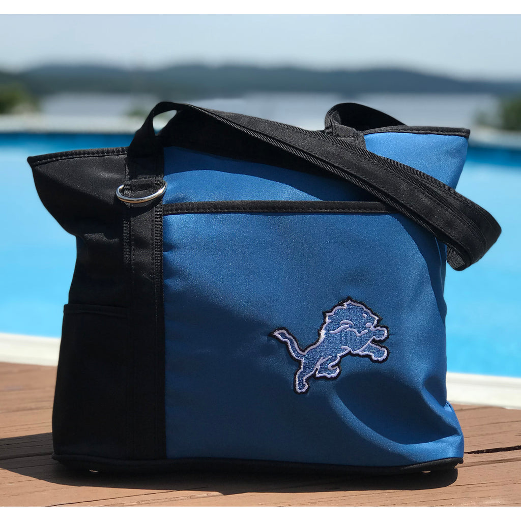 Detroit Lions Tote Bag with Embroidered Logo - Charm14