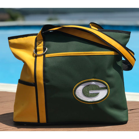 Green Bay Packers Tote Bag with Embroidered Logo - Charm14