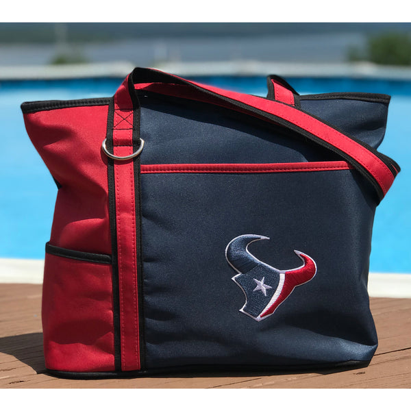 Houston Texans Tote Bag with Embroidered Logo - Charm14