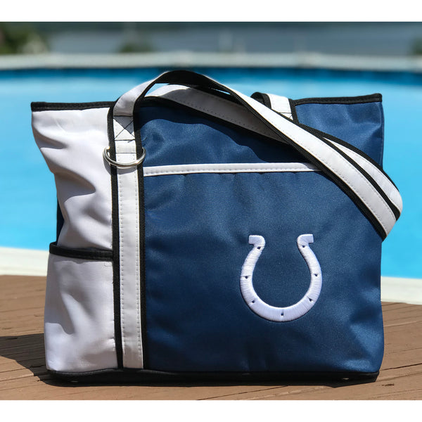 Indianapolis Colts Tote Bag with Embroidered Logo - Charm14