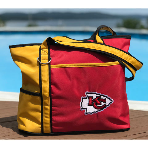 Kansas City Chiefs Tote Bag with Embroidered Logo - Charm14