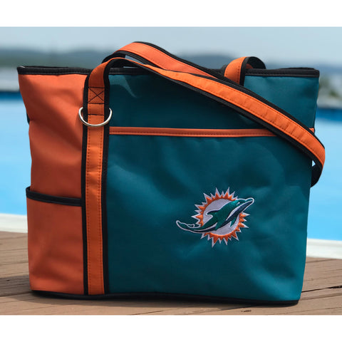 Miami Dolphins Tote Bag with Embroidered Logo - Charm14