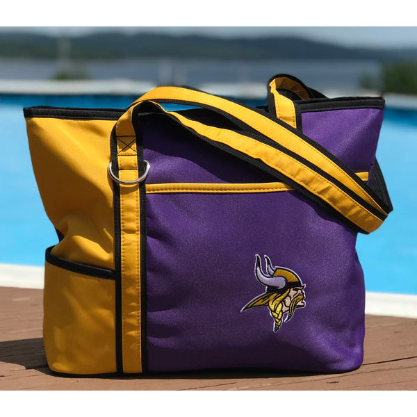 Minnesota Vikings Tote Bag with Embroidered Logo - Charm14