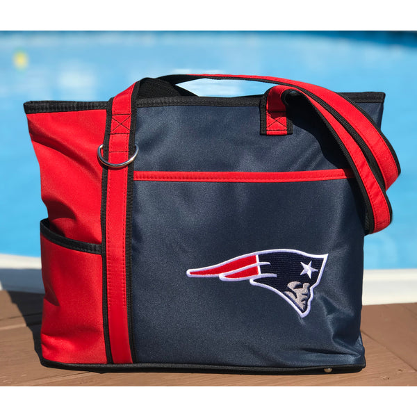New England Patriots Tote Bag with Embroidered Logo - Charm14