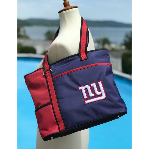 New York Giants Tote Bag with Embroidered Logo - Charm14