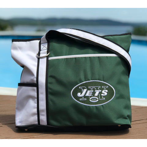 New York Jets Tote Bag with Embroidered Logo - Charm14