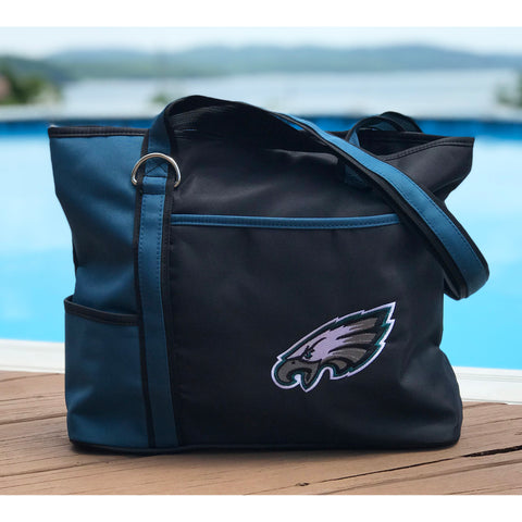 Philadelphia Eagles Tote Bag with Embroidered Logo - Charm14