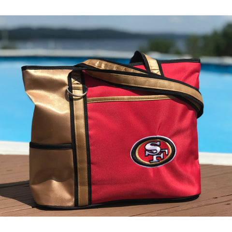 San Francisco 49ers Tote Bag with Embroidered Logo - Charm14