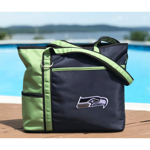 Seattle Seahawks Tote Bag with Embroidered Logo - Charm14