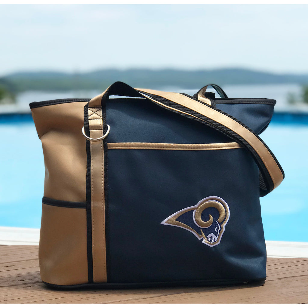 Los Angeles Rams Tote Bag with Embroidered Logo - Charm14