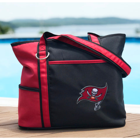 Tampa Bay Buccaneers Tote Bag with Embroidered Logo - Charm14