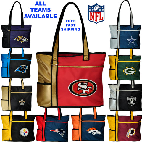 NFL Tote Bag-Embroidered Logo by Little Earth