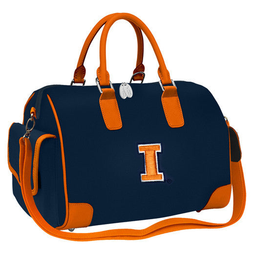 NCAA Illinois Fighting Illini Deluxe Handbag - Charm14