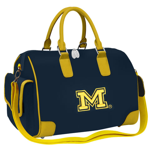 NCAA Michigan Wolverines Deluxe Handbag - Charm14