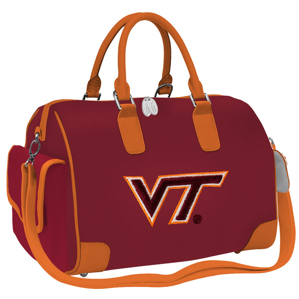 NCAA Deluxe Designer Handbag-Embroidered Logo - Charm14