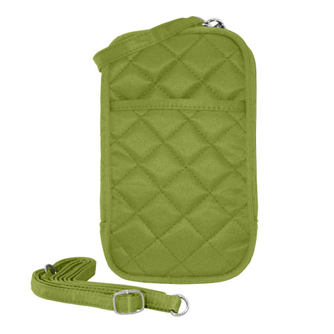 Cell Phone Purse - Lime Green PursePlus Quilt with Touchscreen - Charm14