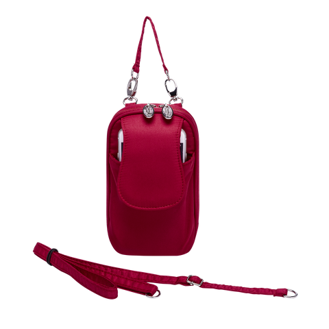 Cell Phone Purse - Apple Red PursePlus XL with Touchscreen - Charm14