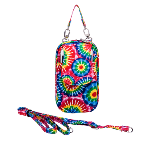 Cell Phone Purse - Rainbow Tie Dye PursePlus XL with Touchscreen - Charm14