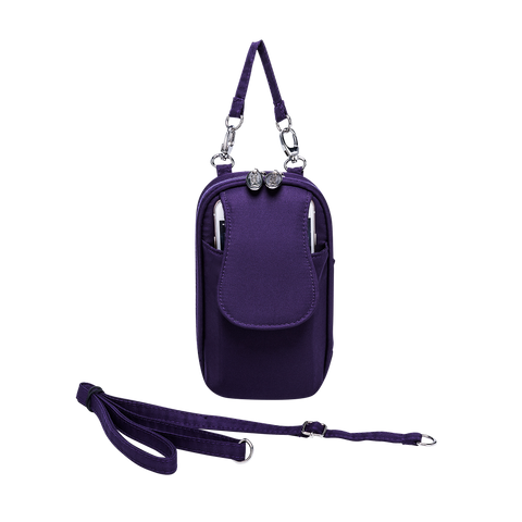 Cell Phone Purse - Grape PursePlus XL with Touchscreen - Charm14