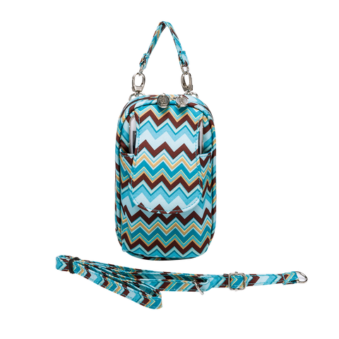 Cell Phone Purse - Natural Chevron PursePlus XL with Touchscreen - Charm14