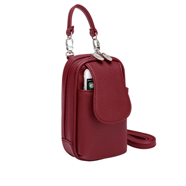 XLarge-Crossbody Phone Purse-Assorted Leatherette Colors - Charm14