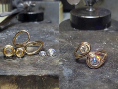 Bezel Set Ring Before and After