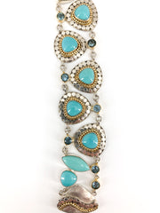 Michou Turquoise and Topaz Bracelet