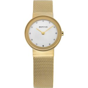 Ladies Gold Watch With Swarovski Crystals