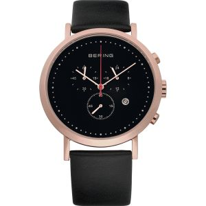 Unisex Rose With Black Calfskin Watch