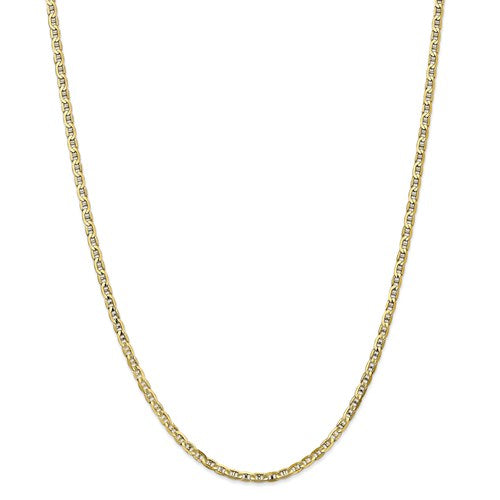 "20"" 10K Yellow Gold Concave Anchor Chain"