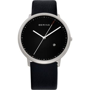 Unisex Watch With Black Calfskin