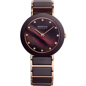 Ladies Rose Ceramic Brown Watch