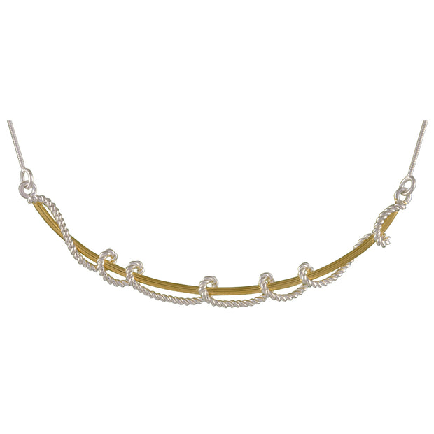 Sterling Silver and 22K Gold Vermeil Necklace