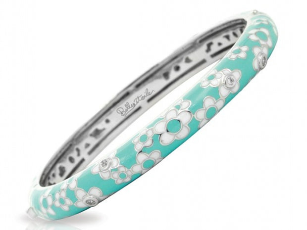 Constellations : Aquamarine Daisies Bangle