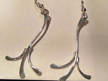 "Sterling Silver ""Flow"" Earrings"