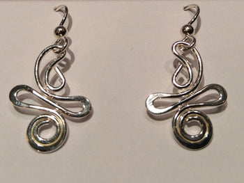 "Sterling Silver ""AMP 1"" Earrings"