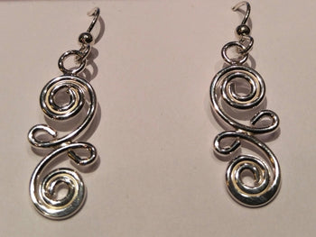 "Sterling Silver ""Blot"" Earrings"