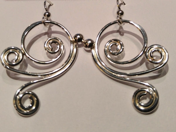 "Sterling Silver ""Dawson"" Curl Earrings"