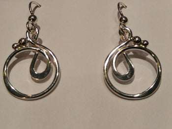 "Sterling Silver Medium ""Dan"" Earrings"