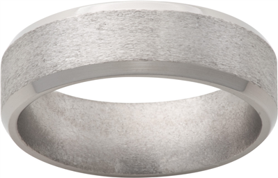 Titanium 7mm Stone Mens Wedding Band