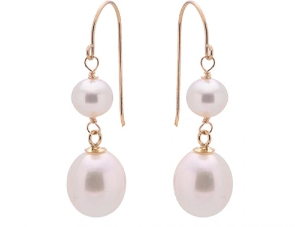 14kt Yellow Gold Pearl Drop Earrings