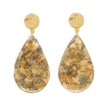 Confetti Medium Teardrop Earrings