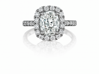 Oval Center Diamond Halo Engagement Ring