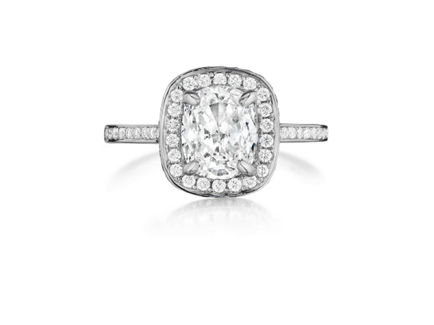 Platinum 1/2ct Engagement Ring