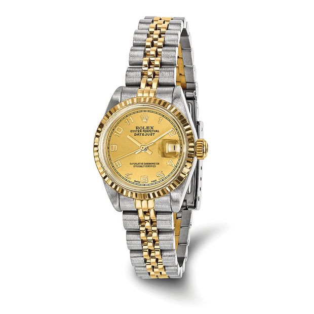 Pre-owned Independently Certified Rolex Steel/18ky Ladies Datejust Watch