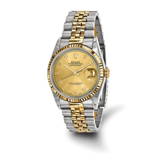 Pre-Owned Independently Certified Rolex Steel/18ky Mens Datejust Watch