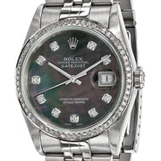 Pre-owned Independently Certified Rolex Steel/18kw Mens Dia Datejust Watch