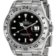 Pre-Owned Independently Certified Rolex Steel Mens Explorer II Black Watch